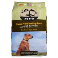 Walk About Canine Exotics Vegan Recipe Grain-Free Dry Dog Food, 25-lb bag