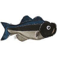 Fetch Pet Products Reely Fish Black Bass Dog Toy