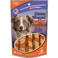 Carolina Prime Pet Chicken Wrapped Sweet 'Tater Stix Dog Treats, 5-oz bag