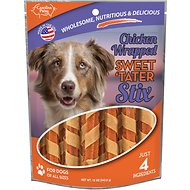 Carolina Prime Pet Chicken Wrapped Sweet 'Tater Stix Dog Treats, 12-oz bag