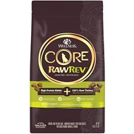 Wellness CORE RawRev Grain-Free Healthy Weight Recipe with Freeze Dried Turkey Dry Dog Food, 4-lb bag
