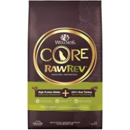 Wellness CORE RawRev Grain-Free Healthy Weight Recipe with Freeze Dried Turkey Dry Dog Food, 18-lb bag