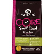 Wellness CORE Grain-Free Small Breed Healthy Weight Deboned Turkey Recipe Dry Dog Food, 4-lb bag