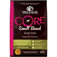 Wellness CORE Grain-Free Small Breed Healthy Weight Deboned Turkey Recipe Dry Dog Food, 12-lb bag
