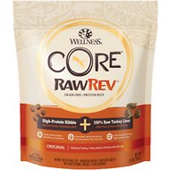 Wellness CORE RawRev Grain-Free Original Recipe with Freeze-Dried Turkey Liver Dry Cat Food, 12-oz bag
