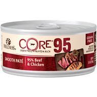 Wellness CORE 95% Beef & Chicken Grain-Free Canned Cat Food, 5.5-oz, case of 12