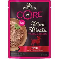 Wellness CORE Grain-Free Small Breed Mini Meals Beef & Chicken Pate Dog Food Pouches