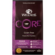 Wellness CORE Grain-Free Senior Deboned Turkey Recipe Dry Dog Food, 24-lb bag