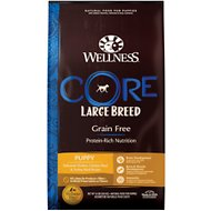 Wellness CORE Grain-Free Large Breed Puppy Deboned Chicken Recipe Dry Dog Food, 24-lb bag