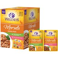 Wellness Healthy Indulgence Morsels Grain-Free Variety Pack Cat Food Pouches, 3-oz, case of 32