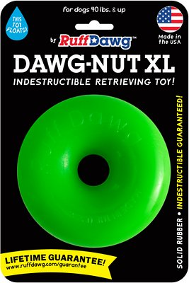 Ruff Dawg Indestructible Dawg Nut Tough Dog Chew Toy, Color Varies
