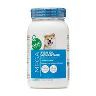 GNC Pets Mega Fish Oil Advantage Fish Flavor Softgel Capsules Dog Supplement, 90 count