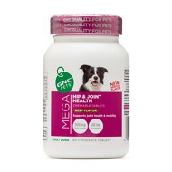 GNC Pets Mega Hip & Joint Health Beef Flavor Chewable Tablets Dog Supplement, 60 count