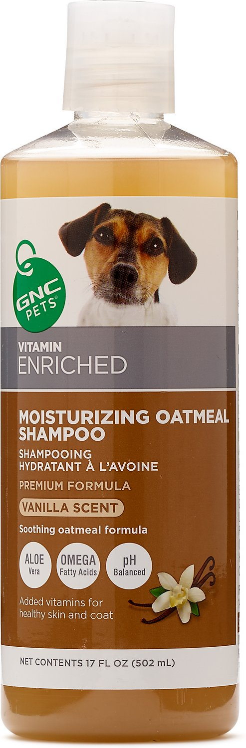 GNC Pets Moisturizing Oatmeal Dog Shampoo, Vanilla Scent, 17-oz bottle
