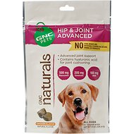 GNC Pets Naturals Hip & Joint Advanced Chicken Flavor Soft Chews Dog Supplement, 50 count