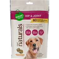 GNC Pets Naturals Hip & Joint Chicken Flavor Soft Chews Dog Supplement, 50 count