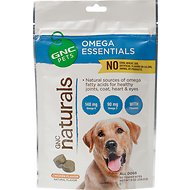 GNC Pets Naturals Omega Essentials Chicken Flavor Soft Chews Dog Supplement, 50 count