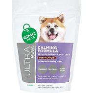 GNC Pets Ultra Mega Calming Formula Beef Flavor Soft Chews Dog Supplement, 60 count