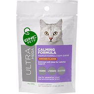 GNC Pets Ultra Mega Calming Formula Chicken Flavor Soft Chews Cat Supplement, 21 count