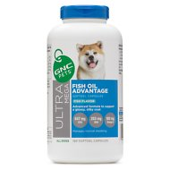 GNC Pets Ultra Mega Fish Oil Advantage Fish Flavor Softgel Capsules Dog Supplement, 180 count