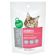 GNC Pets Ultra Mega Hairball Formula Chicken Flavor Soft Chews Cat Supplement, 45 count