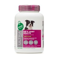 GNC Pets Ultra Mega Hip & Joint Health Beef Flavor Chewable Tablets Dog Supplement, 60 count