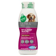 GNC Pets Ultra Mega Hip & Joint Health Senior Beef Flavor Liquid Dog Supplement, 8-oz bottle