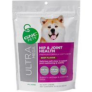 GNC Pets Ultra Mega Hip & Joint Health Beef Flavor Soft Chews Dog Supplement, 60 count