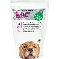 GNC Pets Ultra Mega Hip & Joint Health Beef Flavor Soft Chews Dog Supplement, 120 count