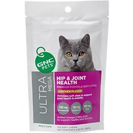 GNC Pets Ultra Mega Hip & Joint Health Chicken Flavor Soft Chews Cat Supplement, 120 count
