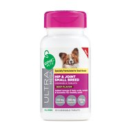GNC Pets Ultra Mega Hip & Joint Small Breed Beef Flavor Chewable Tablets Dog Supplement, 30 count