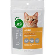 GNC Pets Ultra Mega Lysine Chicken Flavor Soft Chews Cat Supplement, 60 count