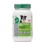 GNC Pets Ultra Mega Multivitamin Plus Beef Flavor Chewable Tablets Dog Supplement, 60 count