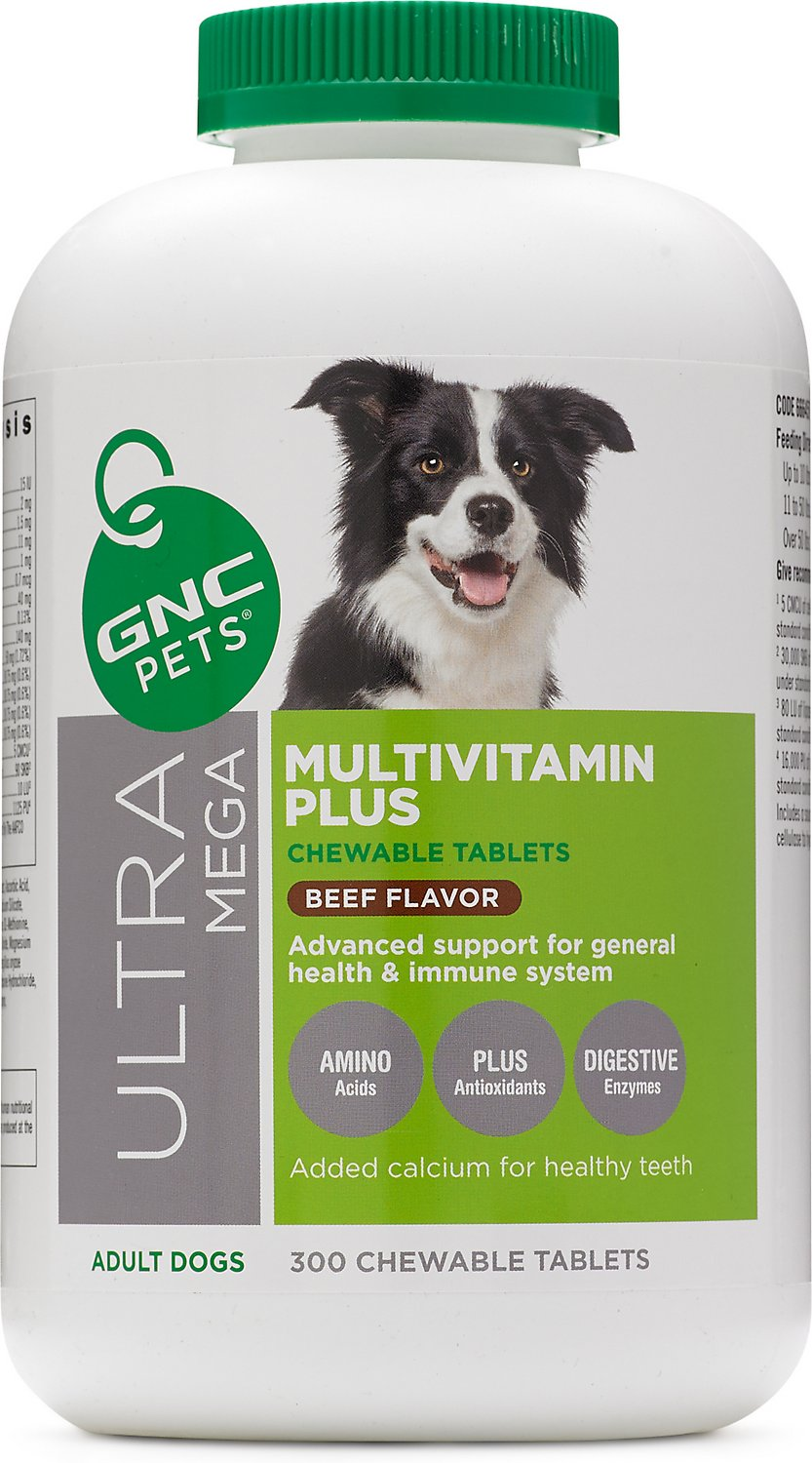 Gnc Pets Ultra Mega Multivitamin Plus Beef Flavor Chewable Tablets