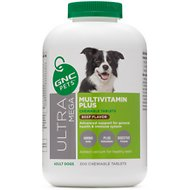 GNC Pets Ultra Mega Multivitamin Plus Beef Flavor Chewable Tablets Dog Supplement, 300 count