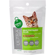 GNC Pets Ultra Mega Multivitamin Plus Chicken Flavor Soft Chews Cat Supplement, 45 count