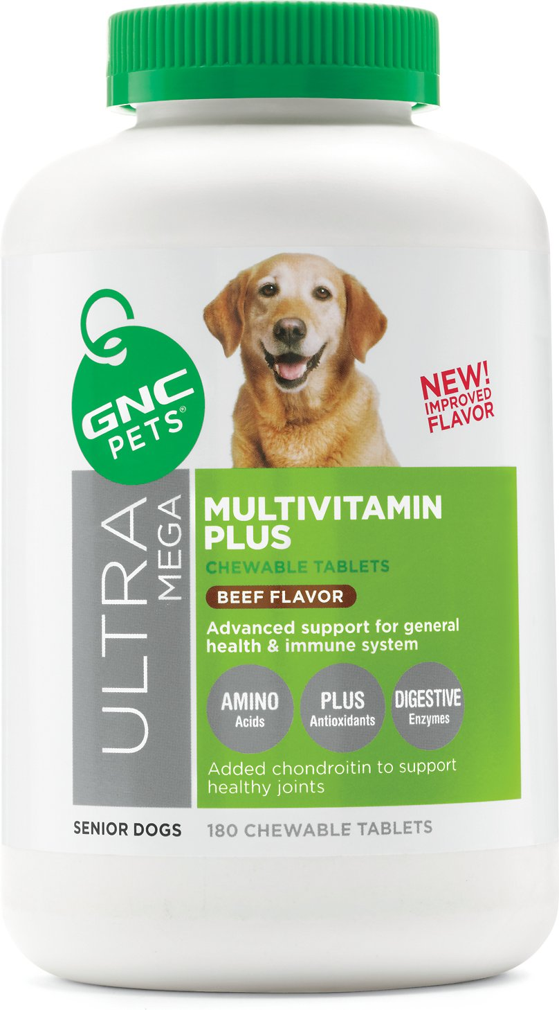 Gnc Pets Ultra Mega Multivitamin Plus Senior Beef Flavor Chewable