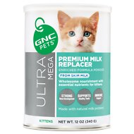 GNC Pets Ultra Mega Premium Milk Replacer Kitten Powder Formula, 12-oz container