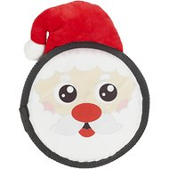 Hyper Pet Holiday Super Squeaker Flyer Dog Toy, Santa