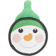 Hyper Pet Holiday Super Squeaker Flyer Dog Toy, Snowman