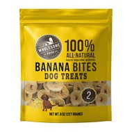 Wholesome Pride Pet Treats Banana Bites Dog Treats, 8-oz bag