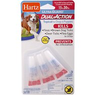 Hartz UltraGuard Dual Action Flea & Tick Topical Treatment for Dogs 15-30 lbs, 3 treatments