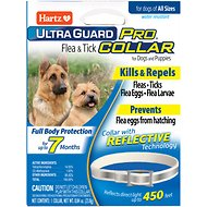 Hartz UltraGuard Pro Reflective Flea & Tick Collar for Dogs & Puppies, 1 count
