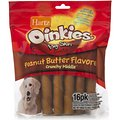 Hartz Oinkies Pig Skin Twists with Peanut Butter Flavor Crunchy Middle Dog Treats