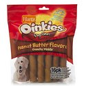 Hartz Oinkies Smoked Pig Skin Twists with Sausage Flavored Stuffed Middle 15 Pack