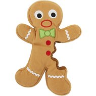 GoDog Holiday Chew Guard Gingerbread Man Dog Toy, Large