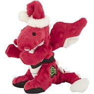 GoDog Holiday Chew Guard Dragons Dog Toy, Small