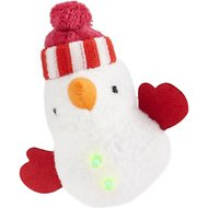OurPets Holiday Collection Catnip Infused Cat Toy, Northern Light Up Snowman