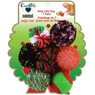 OurPets GoCatGo Holiday Wreath, 7 pack cat toy