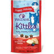 Wellness Kittles Grain-Free Turkey & Cranberries Holiday Recipe Crunchy Cat Treats, 2-oz bag
